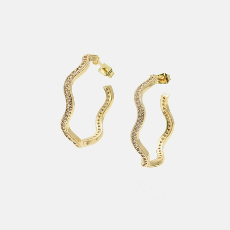 fashion zircon gold-plated color earrings wholesale  NHWV358634's discount tags