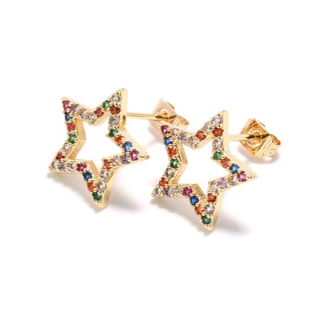 fashion hollow star earrings wholesale  NHWV358636's discount tags