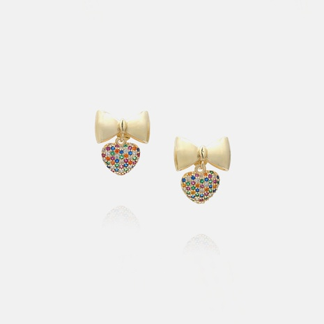 fashion heart bows earrings wholesale  NHWV358637's discount tags