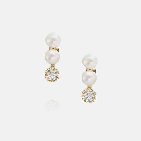 vintage zircon pearl earrings wholesale  NHWV358640's discount tags