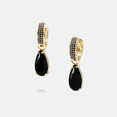 fashion zircon water drop pendant earrings NHWV358641's discount tags