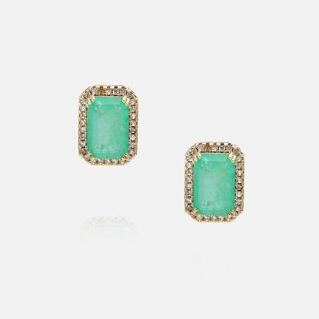retro zircon color mixed stone earrings wholesale   NHWV358648's discount tags