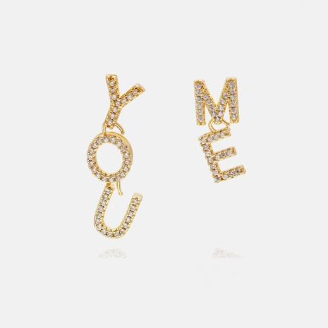 fashion letter DIY pendant earrings wholesale  NHWV358656's discount tags