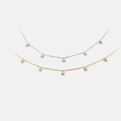moda simple exquisito collar de circonita estrella de cinco puntas al por mayor NHWV358666's discount tags
