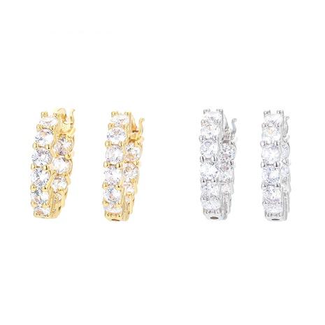 fashion single row zircon copper earring  NHWG358702's discount tags