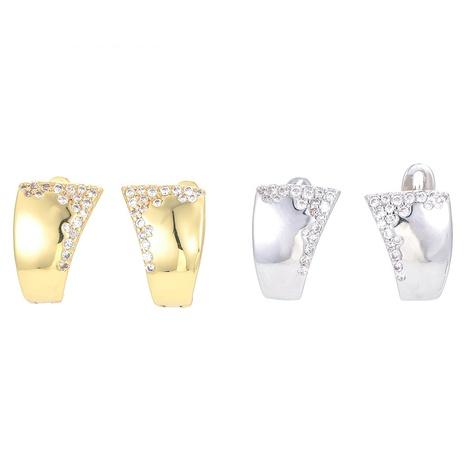 fashion geometric irregular copper earrings   NHWG358703's discount tags