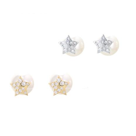 Korean pearl five-pointed star earrings  NHWG358716's discount tags