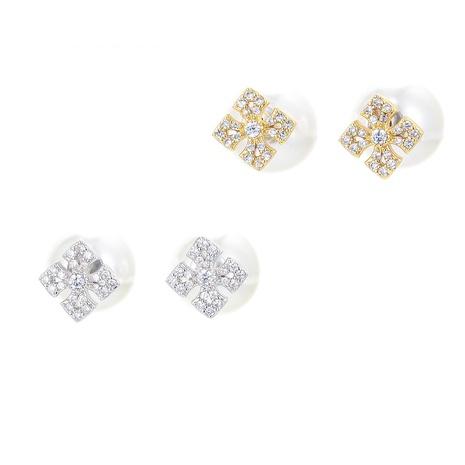 Korean geometric small copper earrings  NHWG358796's discount tags
