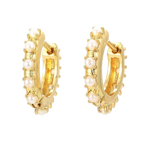 fashion pearl micro-inlaid copper earrings NHWG358802's discount tags