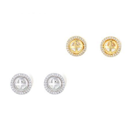 simple round geometric copper earrings  NHWG358804's discount tags