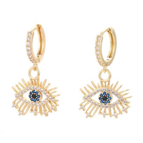 fashion lucky eye copper earrings NHWG358817's discount tags