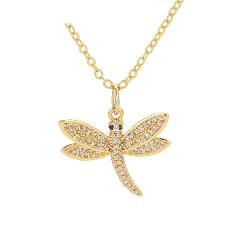 moda libélula insecto colgante collar de cobre NHWG358848's discount tags