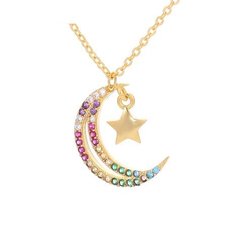 Collar con colgante de estrellas y luna de moda NHWG358852's discount tags