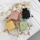 Korean drawstring messenger box square bag NHLH364737