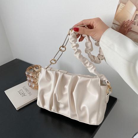 bolso de la axila del pliegue del color sólido de la moda NHLH364754's discount tags