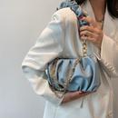 Fashion Folded Chain Cloud Shoulder Underarm Bag NHLH364758