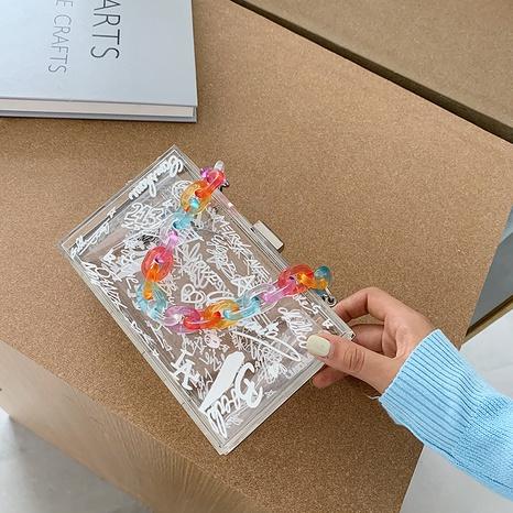 bolsa de caja transparente de gelatina acrílica de moda NHLH364889's discount tags