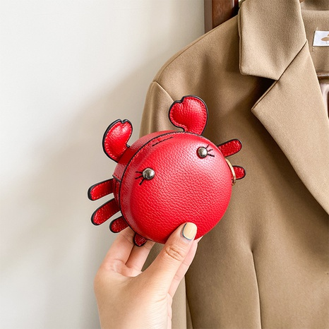 Pequeño bolso lindo de la cadena de la muñeca de la historieta del cangrejo NHLH364893's discount tags
