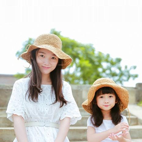 Korean handmade flat sunscreen sun straw hat  NHTQ365056's discount tags