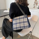 fashion plaid pattern chain shoulder handbag wholesale  NHJZ365146