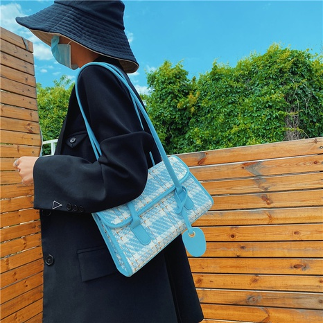 bolso de axila de lana pequeño de un solo hombro de moda retro NHJZ365157's discount tags
