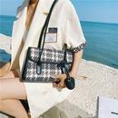 retro fashion oneshoulder small woolen armpit bag NHJZ365157