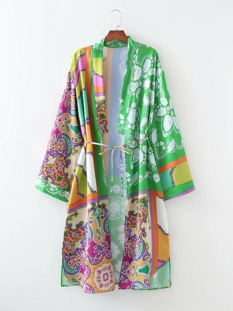 robe de patchwork de noeud papillon à manches longues et revers de mode rétro en gros NHAM365170's discount tags