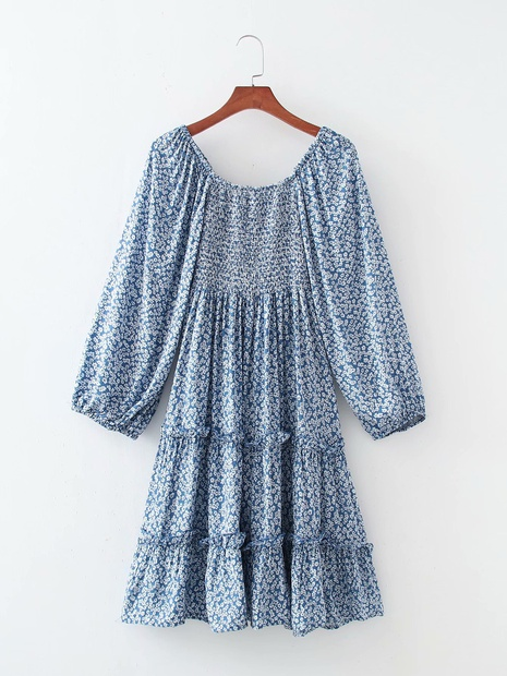 Robe décontractée à manches larges et à coutures superposées NHAM365173's discount tags