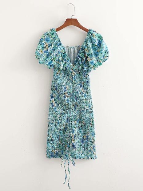 robe slim stretch à manches courtes et à col en V à la mode en gros NHAM365176's discount tags