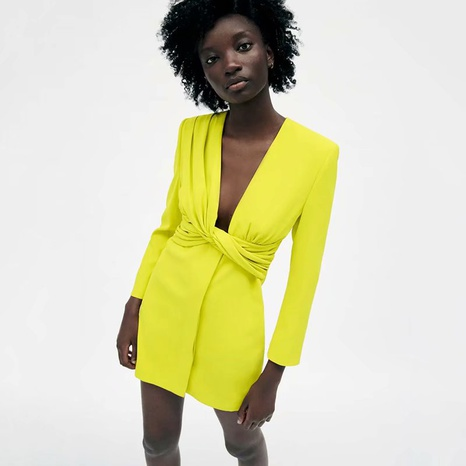 Fashion summer blazer-style fluorescent colordress  NHAM365184's discount tags