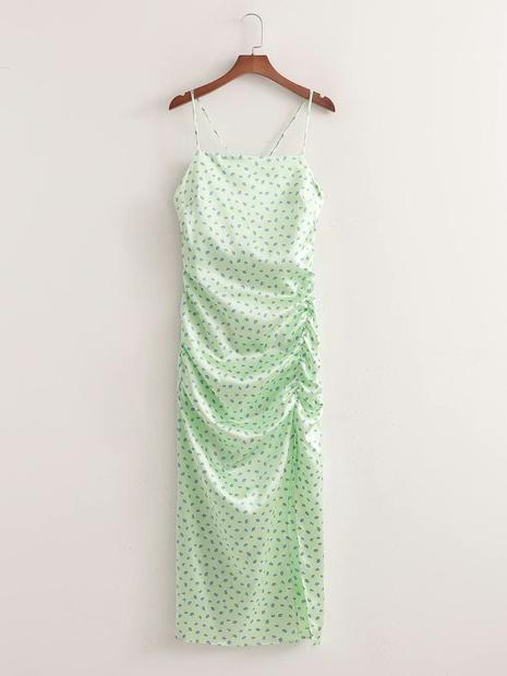 robe à bretelles à pois NHAM365204's discount tags