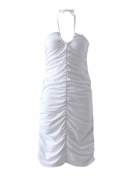 Robe dos nu à la poitrine enveloppée à la mode NHAM365205's discount tags