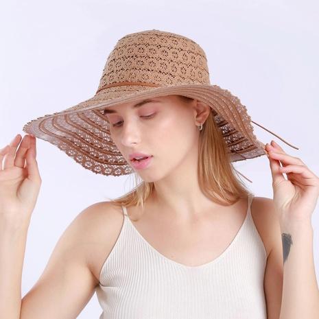 Korean sunshade big eaves lace straw hat  NHAMD365222's discount tags