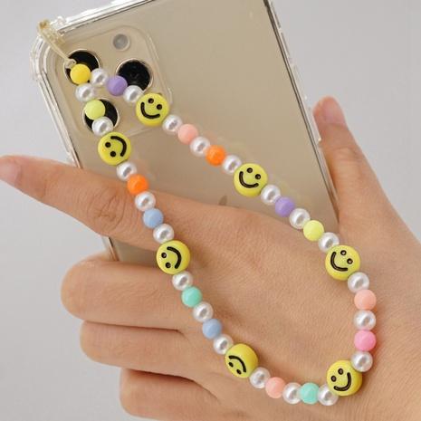 Bohemia macaron pearl smiley bead cordón para teléfono móvil NHYUZ365270's discount tags