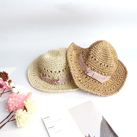 fashion parent-child handmade children bow straw hat  NHTQ365076's discount tags