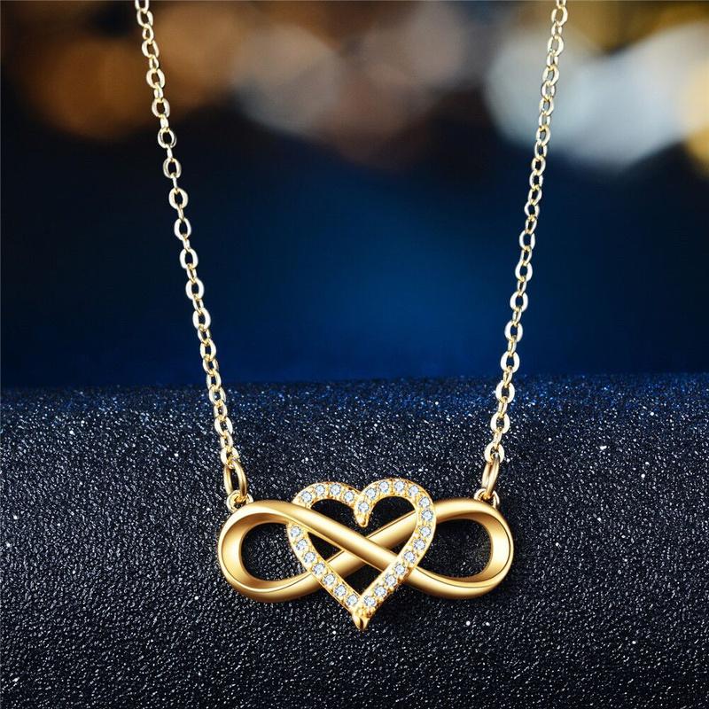 Womens Letter Heartshaped Necklace NHBOJ365642
