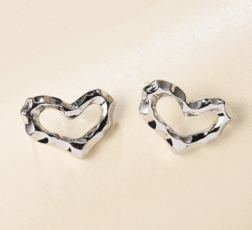 Al por mayor joyas pendientes de aleación de corazón geométrico Nihaojewelry NHMD376105's discount tags