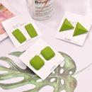 nihaojewelry korean simple green geometric long earrings wholesale jewelry NHHER376355