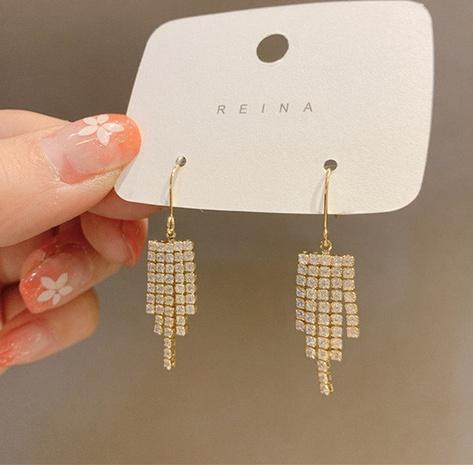 Al por mayor joyas pendientes de borlas de diamantes largos Nihaojewelry NHPA376366's discount tags