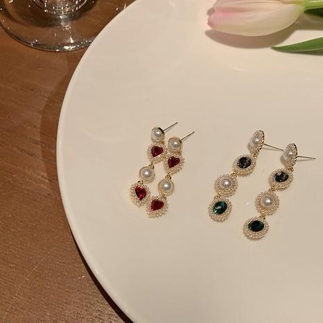 Al por mayor joyas corazón barroco pendientes largos de perlas Nihaojewelry NHPA376367's discount tags