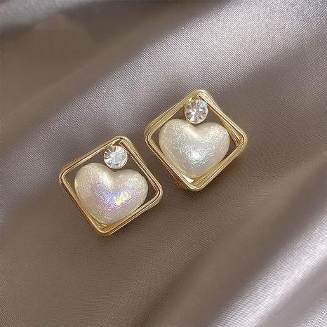 Al por mayor joyas corazón perla pendientes en forma de diamante Nihaojewelry NHPA376376's discount tags