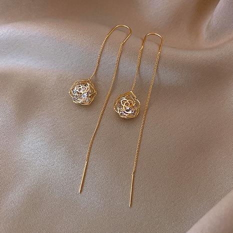 wholesale accessories long tassel ball pendant copper earrings Nihaojewelry NHPA376384's discount tags