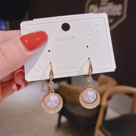 Al por mayor joyas pendientes de cobre hueco de perlas con diamantes incrustados Nihaojewelry NHPA376405's discount tags
