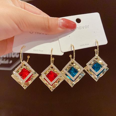 Pendientes de cristal de diamantes geométricos retro de Nihaojewelry, joyería al por mayor NHPA376418's discount tags