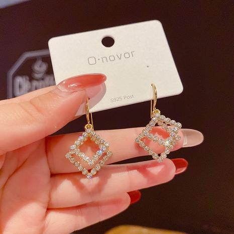 Nihaojewelry joyas al por mayor pendientes geométricos de diamantes en forma de abanico NHPA376429's discount tags