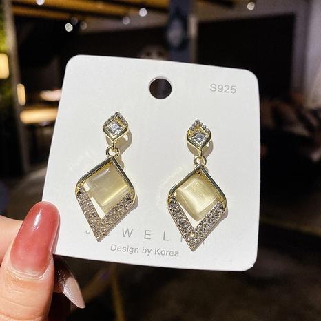 Joyería al por mayor Pendientes Ojo de Gato Diamante Nihaojewelry NHPA376438's discount tags