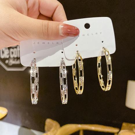 Al por mayor joyas de diamantes en forma de C pendiente de cuerda Nihaojewelry NHPA376440's discount tags