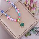 Nihaojewelry wholesale jewelry bohemian style multicolor glass heart pendant necklace NHBW376510