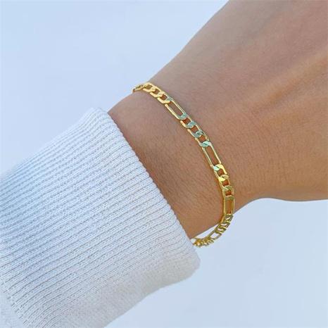 Nihaojewelry Chaîne De Mode En Acier Inoxydable Plaqué Or Bracelet Bijoux En Gros NHTF376792's discount tags