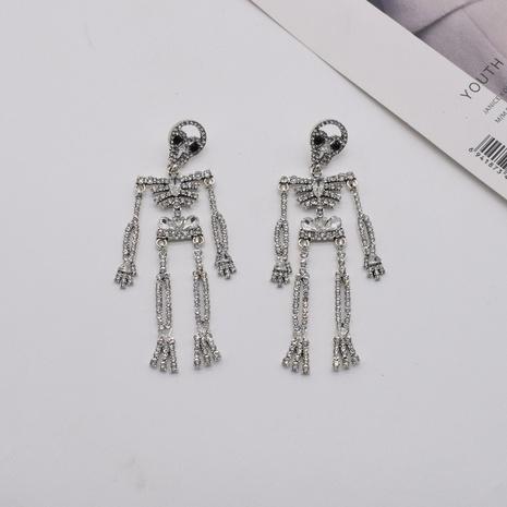 nihaojewelry retro punk cráneo esqueleto pendientes de diamantes al por mayor joyería NHNT376796's discount tags